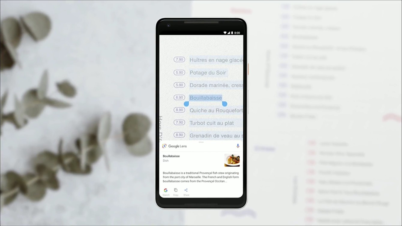 Google Lens copy text from the real world