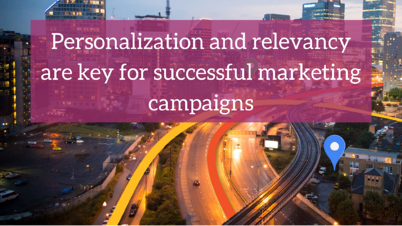 Personalization and relevancy are key for successful marketing campaigns (1)