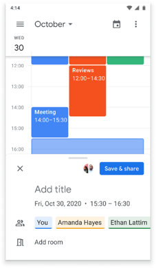 Scheduling from from Chat (mobile) 2