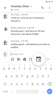 Scheduling from from Chat (mobile)