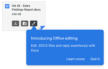 office editing for gmail attachments
